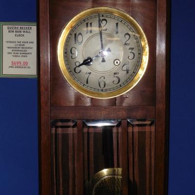 Gustav Becker Bim Bam Wall Clock